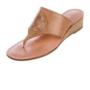 Coach Nicolette Leather Thong Wedges Sandal |7